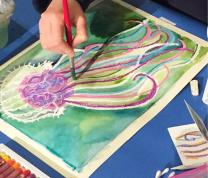 Painting Plankton with Watercolor and Crayon: An HPEEC Lunchtime Workshop